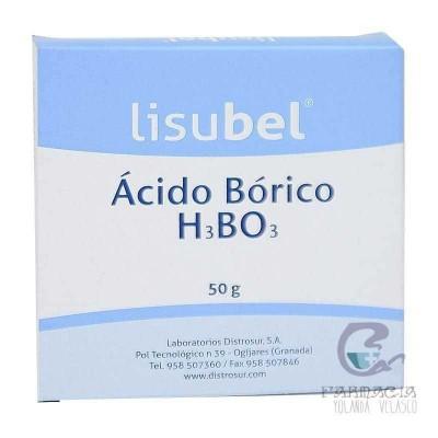 Ácido Bórico Lisubel Bote 50 gr