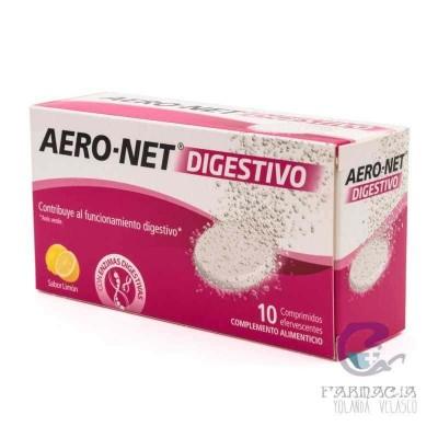 AERO NET DIGESTIVO COMP EFERVESCENTE 10 COMPRIMIDOS