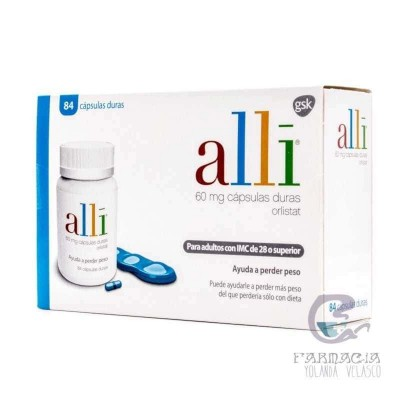 Alli 60 mg 84 Cápsulas Frasco