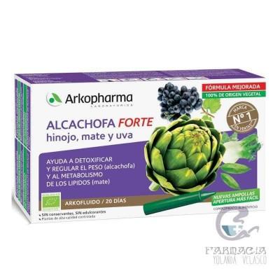 Arkofluido Alcachofa Forte Ampollas Bebibles 15 ml 20 Viales