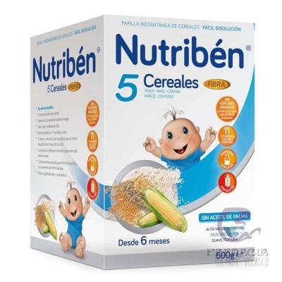 Nutriben Papilla 5 Cereales Fibra 600 gr