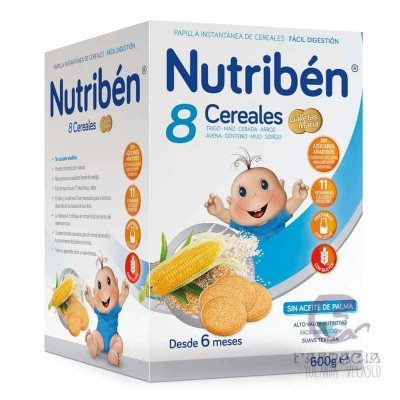 Nutriben Papilla 8 Cereales Galleta María 600 gr