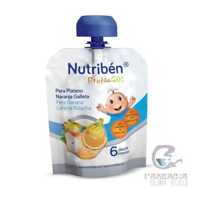 Nutriben Fruta & Go Galletas Pera platano Naranja 90 gr