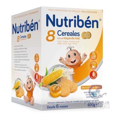 Nutriben 8 Cereales con Miel Galletas María 600 gr
