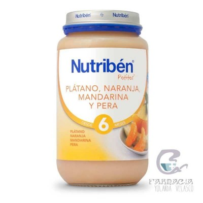 Nutriben Platano Naranja Mandarina y Pera Potito Grandote 250 gr