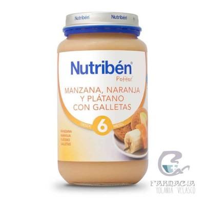 Nutriben Manzana Naranja Platano y Galleta María Potito Grandote 250gr