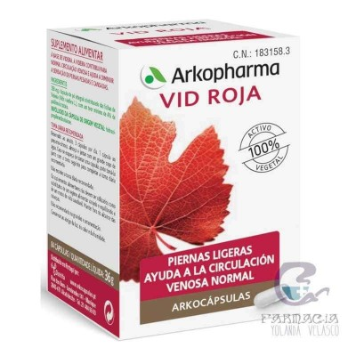 Arkopharma Vid Roja 84 Cápslas