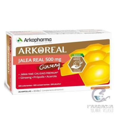Arkoreal Jalea Real Ginseng 15 ml 20 Ampollas