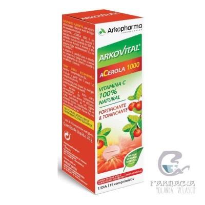 ARKOVITAL ACEROLA 1000 15 COMPRIMIDOS MASTICABLES