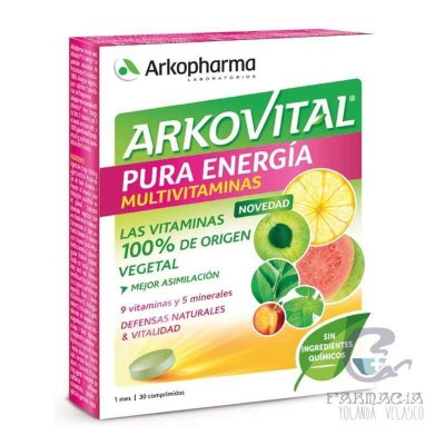 ARKOVITAL PURA ENERGIA MULTIVITAMINICO 30 COMPRIMIDOS