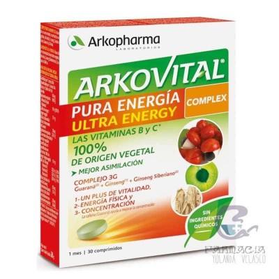 Arkovital Pura Energía Ultra Energía 30 Comprimidos