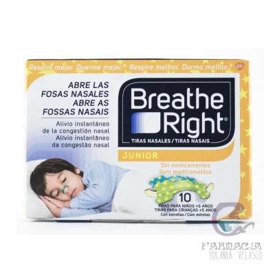 Breathe Right Respira Mejor Tira Adhesiva Nasal Niños 10 Unidades