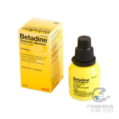 Betadine 100 mg/ml Solución Tópica 1 Frasco 50 ml