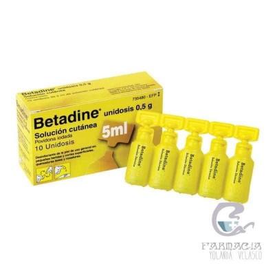 Betadine 100 mg/ml Solución Tópica 10 Unidosis 5 ml