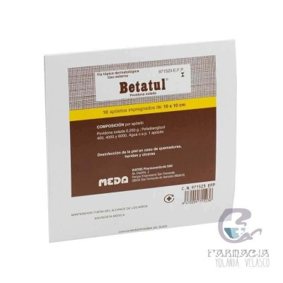Betatul 250 mg 10 Apósitos