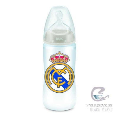 Biberon Silicona Nuk Real Madrid 6-18 300 ml