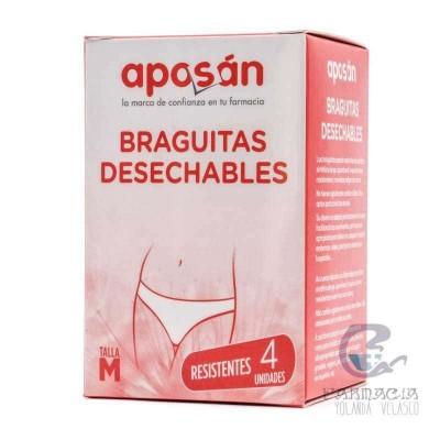 Braga Desechable Aposan Talla Mediana 4 Unidades