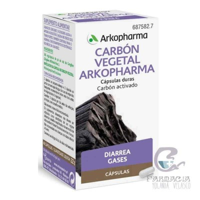 Carbón Vegetal Arkopharma 225 mg 50 Cápsulas