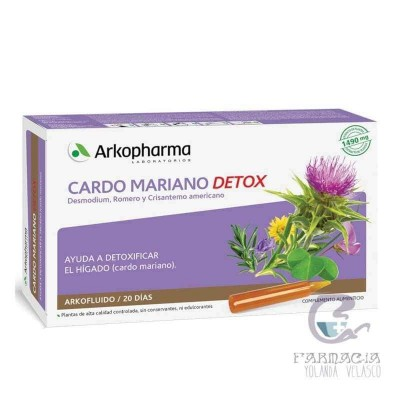 CARDO MARIANO DETOX ARKOPHARMA 20 AMPOLLAS 15 ML