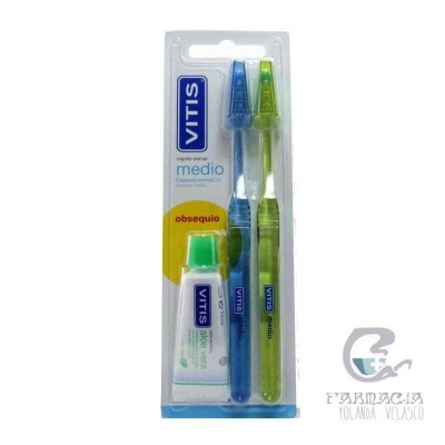 Cepillo Dental Adulto Vitis Medio Duplo