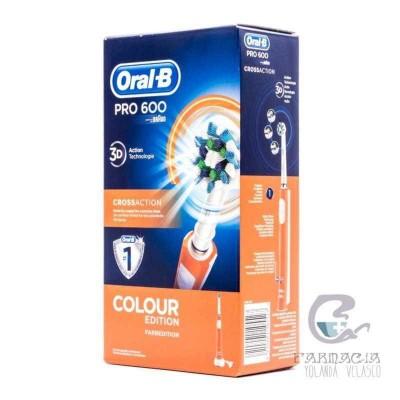 Cepillo Dental Eléctrico Recargable Oral-b 600 Colour Edition Naranja