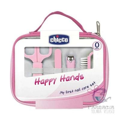 CHICCO SET HAPPY HANDS ROSA