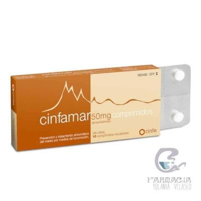 Cinfamar 50 mg 10 Comprimidos Recubiertos