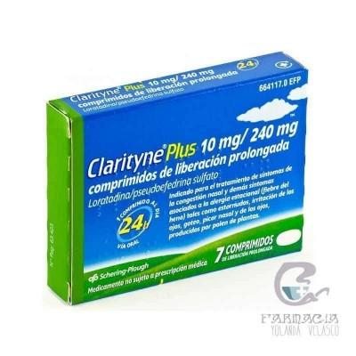 Clarityne Plus 10/240 mg 7 Comprimidos Liberación Prolongada