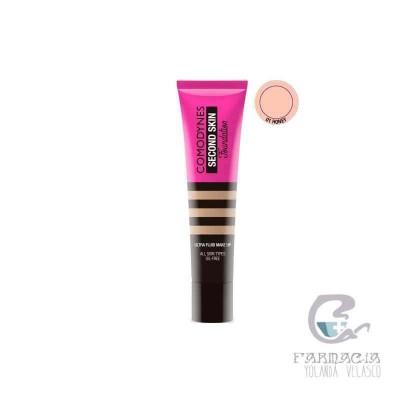 Comodynes Second Skin Maquillaje Fluido 01 Honey 30 ml