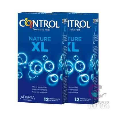 Control Nature XL Preservativos Pack Ahorro 12+12 Unidades