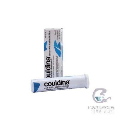 Couldina Con Ácido Acetilsalicilico 500/2/7,5 mg 20 Comprimidos Efervescentes