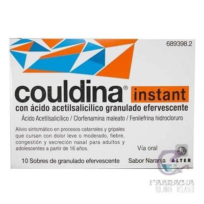 Couldina Instant con Ácido Acetilsalicilico 500/2/7,5 mg 10 Sobres Efervescentes