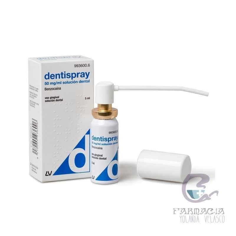 Dentispray 50 mg/ml Aerosol Bucal Solución 5 ml