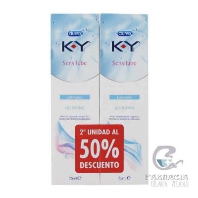 Duplo K-Y Gel Lubricante Hidrosoluble Íntimo 2X75 ml