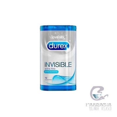 Durex Invisible Extra Sensitivo 12 unidades