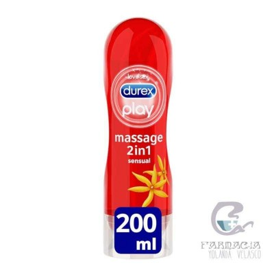 Durex Play Massage Sensual Lubricante Hidrosoluble 200 ml
