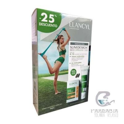 Elancyl Slim Design Cápsulas Reductora + Gel Pack 60 Cápsulas + 150 ml