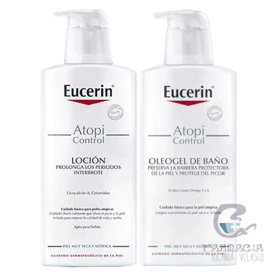 EUCERIN ATOPIC CONTROL PACK LOCION + OLEOGEL 400+400 ML