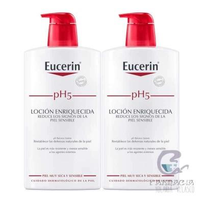 Eucerin Duplo pH5 Loción Enriquecida 2x1000 ml