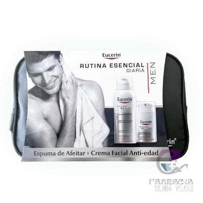 Eucerin Pack Men Espuma de Afeitar + Crema Anti-Edad