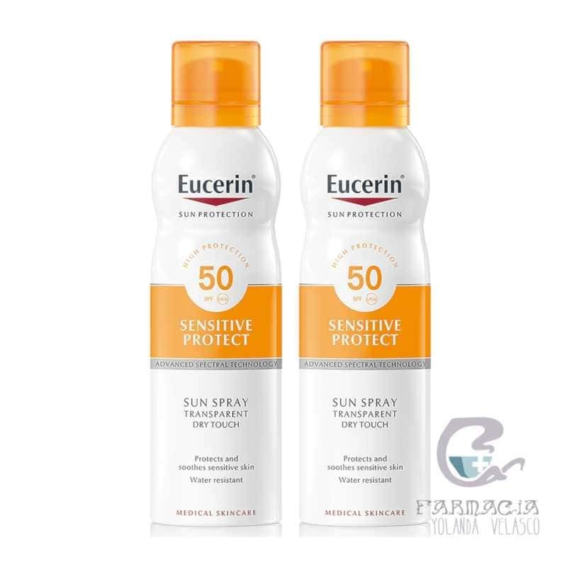 EUCERIN SUN PROTECTION 50+ DUPLO SPRAY TRANSPARENTE 2X200 ML