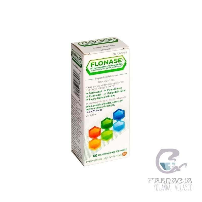 Flonase 50 mcg/pulsación Nebulizador Nasal 60 dosis