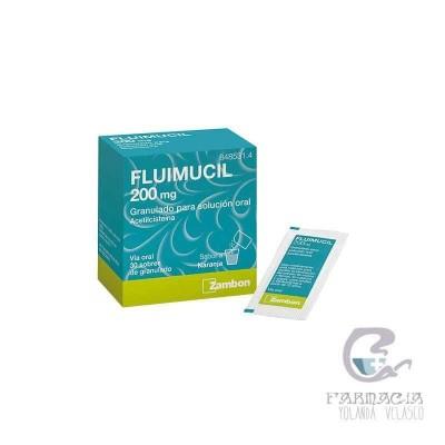 Fluimucil 200 mg 30 Sobres Granulados Solución Oral