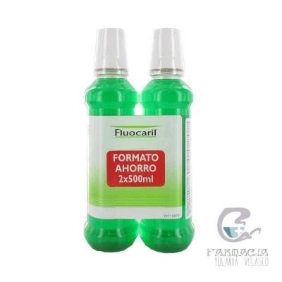 Fluocaril Bi-Fluore Colutorio con Fluor Pack 500 ml x 2