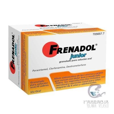 Frenadol Junior 10 Sobres Granulado Solución Oral
