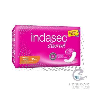 Indasec Maxi Compresa Pérdidas Leves 15 Undiades
