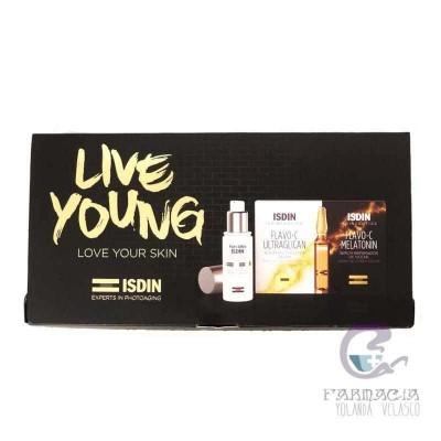 Isdin Live Young Fotoultra Age Repair + Flavo C Ultraglican / Melatonin