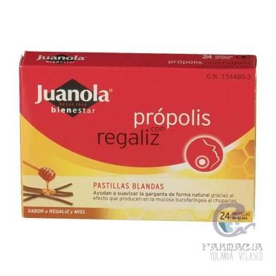 Juanola Própolis Pastillas Regaliz y Miel 24 Pastillas