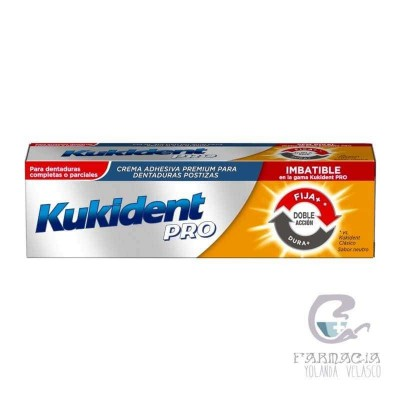 KUKIDENT PRO DOBLE ACCION CREMA ADH PROTESIS DENTAL NEUTRO 40 GR
