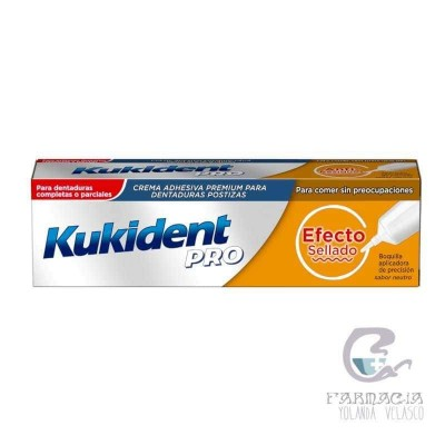 Kukident Pro Efecto Sellado Crema Adh Prótesis Dental 40 gr